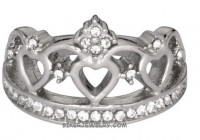 Ladies  Tiara, Crown Ring  With Bling  Sizes  FREE SHIPPING - Product Image