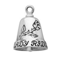 Lady Rider Motorcycle Ride Bell ® Sterling Silver - Product Image