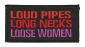 "Loud Pipes Long Necks Loose WomenBiker Patch4"" x 2""FREE SHIPPING - Product Image"