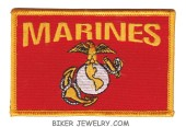 "Marines  Military Patch  3 3/4"" x 2 1/2""  FREE SHIPPING - Product Image"