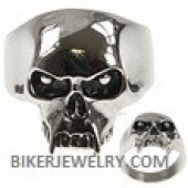 Men's and Ladies Stainless Steel  Vampire Skull Ring with Fangs FREE SHIPPING - Product Image