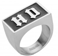 Men's Big Square  Stainless Steel  H D Ring  Sizes 7-15  FREE SHIPPING - Product Image