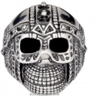 Men's Cyborg Spike Skull Ring Stainless Steel Sizes 9-15FREE SHIPPING - Product Image