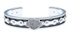 OUT OF STOCKHarley-Davidson®  Stainless Steel  Men's Bike Chain Cuff Bracelet  by Mod®HSB0070
