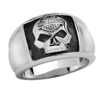 Men's Harley-Davidson ® Stainless Steel  Willie G Skull Ring  Sizes 9-15HSR0020  - Product Image
