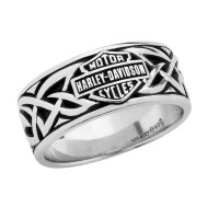 Men's Harley-Davidson ® Wedding Band Sterling Silver Celtic DesignHDR0455 - Product Image