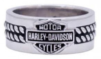 Men's Harley-Davidson ® Wedding Band Sterling SilverHDR0445 - Product Image