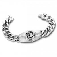 Men's Harley-Davidson® Motorcycle Biker Willie G Stainless Steel Bracelet Mod Jewelry®HSB0202 - Product Image
