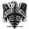Men's  Stainless Steel  American Old School  Biker Ring  Sizes 8-16  FREE SHIPPING