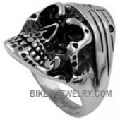 Men's Stainless Steel  Biker Bandana Skull Ring  Sizes 9-15  FREE SHIPPING - Product Image
