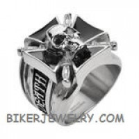 Men's Stainless Steel Big Skull Ring Sizes 9-15 FREE SHIPPING - Product Image
