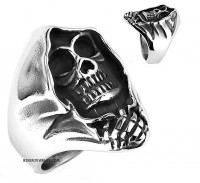 Men's Stainless Steel Biker Grim Reaper Ring  Sizes 7-16  FREE SHIPPING - Product Image
