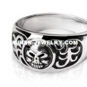 Men's Stainless Steel Domed Skull Biker RingSizes 9-14FREE SHIPPING - Product Image