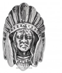 Men's Stainless Steel Indian Chief Ring  Sizes 10-15 FREE SHIPPING - Product Image