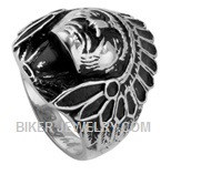 Men's Stainless Steel Indian Chief Ring  Sizes 8-16  FREE SHIPPING - Product Image