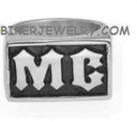 Men's Stainless Steel Motorcycle Club MC Biker Ring Sizes 9-15 FREE SHIPPING - Product Image