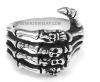 Men's Stainless Steel Skeleton Hand Biker Ring  Sizes 7-13  FREE SHIPPING