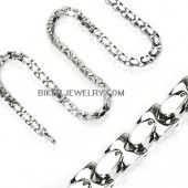 Necklace  Men's Stainless Square Link  FREE SHIPPING - Product Image