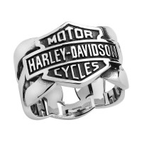 Men's Harley-Davidson ® Mod Jewelry® Stainless Steel Chain Link Wedding Band HSR0029 - Product Image
