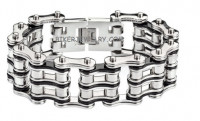 Men's Motorcycle Double Wide Primary Bike Chain Stainless Steel Biker Bracelet 4 Lengths  FREE SHIPPING - Product Image