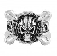 Men's  Stainless Steel  Freedom or Death Skull Motorcycle Biker Ring Sizes 9-18  FREE SHIPPING - Product Image