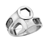 Men's  Sterling Silver  Harley-Davidson ®  Wrench Ring  By Mod ® HDR0109 - Product Image