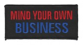 "Mind Your Own BusinessMotorcycle Biker Patch4"" x 2""FREE SHIPPING - Product Image"