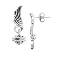 Mod Jewelry® Harley Davidson ® Wing Post Earrings Logo Sterling SilverHDE0270 - Product Image