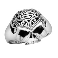 Mod Jewelry® Harley-Davidson® Motorcycle Ladies Sugar Skull Willie G Skull Biker RingHDR0314 - Product Image