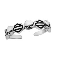 Motorcycle Biker Toe Ring Harley-Davidson ® Willie G Skull Mod Jewelry®HDT0013 - Product Image