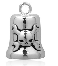Motorcycle Ride Bell Harley-Davidson ® Skull/Wrenches By Mod Jewelry ®  FREE SHIPPING HRB009 - Product Image