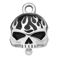 Motorcycle Ride Bell® Harley Davidson® Willie G Skull Black Flames Mod Jewelry® FREE SHIPPINGHRB039 - Product Image