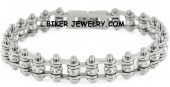 Ladies  Stainless Steel  Bling Motorcycle Bracelet with Crystals  FREE SHIPPING - Product Image