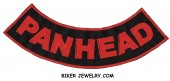 """PANHEAD  Lower Rocker  Motorcycle Biker Patch   2 Color Choices  11"""" X 3""""  FREE SHIPPING - Product Image"""