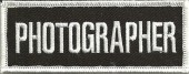 "PHOTOGRAPHERBiker Patch1 1/2"" x 4""FREE SHIPPING - Product Image"