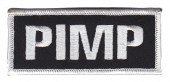 "PIMP Motorcycle Biker Patch3 3/4"" x 1 1/2""FREE SHIPPING - Product Image"