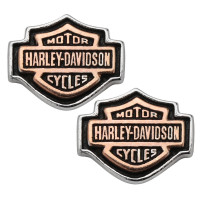 POST EARRINGS Harley Davidson ® By Mod ® Medium Size Sterling Silver and Copper For Both Biker Men and WomenHDE0261 - Product Image