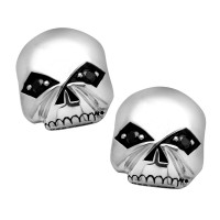 POST EARRINGS Harley Davidson ® By Mod Jewelry® Willie G Skull Sterling Silver HDE0377 - Product Image