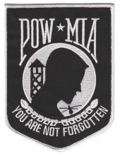 OUT OF STOCKPOW MIA  YOU ARE NOT FORGOTTENMilitary PatchAvailable in 2 SizesFREE SHIPPING - Product Image