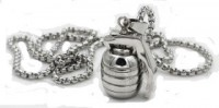 Pendent Fox Tail Chain Stainless Steel Hang Grenade  FREE SHIPPING - Product Image