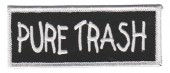 "Pure Trash Biker Patch1 1/2 "" x 4""FREE SHIPPING - Product Image"