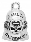 RIDE BELL  Harley Davidson ®  Skull and Wing  Old School Biker Bell  FREE SHIPPING HRB045