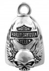 RIDE BELL  Harley Davidson ®  Skull with Wings  and Logo  Old School  FREE SHIPPINGHRB038