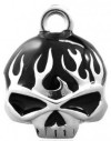 RIDE BELL  Harley Davidson ® Willie G Skull  with Black Flames  FREE SHIPPINGHRB039