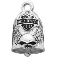 Motorcycle Ride Bell Harley Davidson ® Skull with Wings Old School  FREE SHIPPINGHRB038 - Product Image