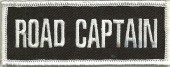 "ROAD CAPTAINMotorcycle Biker Patch1 1/2"" x 4""FREE SHIPPING - Product Image"