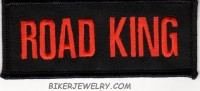 "ROAD KING  Motorcyle Biker Patch  1 3/4 "" x 4""  FREE SHIPPING - Product Image"