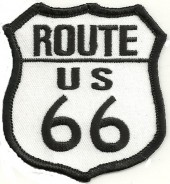 "ROUTE/US66Biker Patch2 1/2"" x 3""FREE SHIPPING - Product Image"