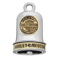Ride Bell Harley-Davidson ® Two-Tone Coin Logo Ride Bell  By Mod ®  FREE SHIPPINGHRB095 - Product Image