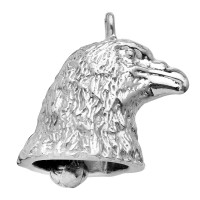3-D Eagle Head Sterling Silver Motorcycle Ride Bell ®  - Product Image